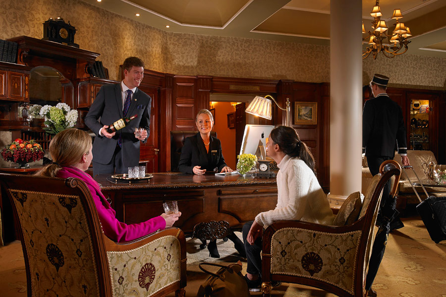 Check In at Front Desk Hayfield Manor