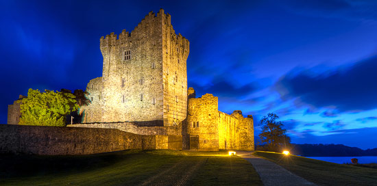 Ross Castle Killarney at night