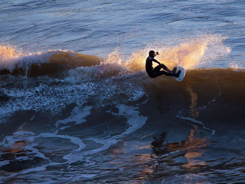 Surfing at Inch, County Kerry